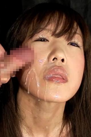 美熟女のスーパースローフェラぶっかけ顔射2