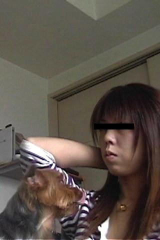 お部屋で自画撮り(愛犬と過ごす休日)