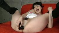 フェチ:巨乳娘の挑発、アナルオナニー