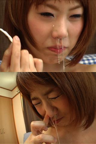 美女の鼻水【鼻くそ・鼻水編】