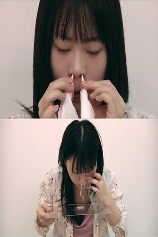 見た事無い鼻水映像☆☆小咲みおちゃんの鼻水吸い☆☆