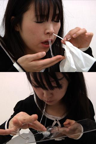 鼻水遊戯 美しい鼻水フェチ