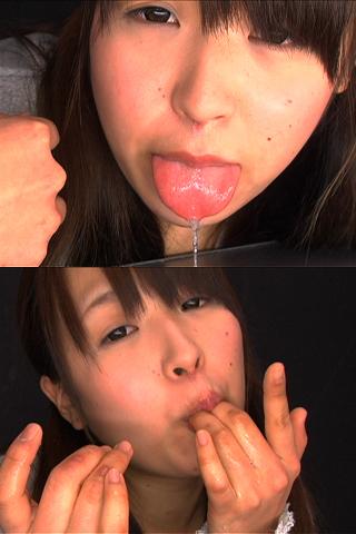 八重歯の可愛い【ひとみちゃん】口内観察・唾・えずき汁