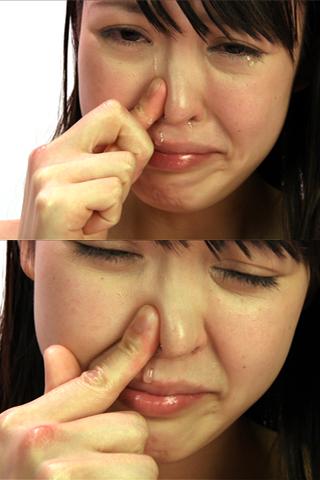 ハイビジョン高画質で≪観察する≫日本美人の鼻水と涙