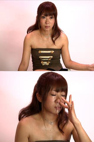 ハイビジョン★韓国系美少女の【鼻穴から大量鼻水】高画質