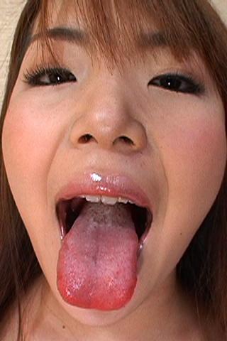 美女のクチ 歯・のどちんこ観察 2