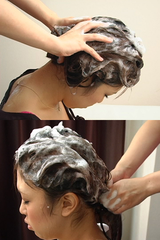 洗髪美女をじっくり観察 洗髪・シャンプーフェチ